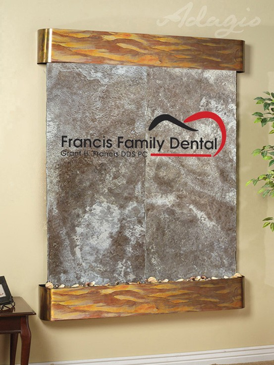 Francis Family Logo Water Feature