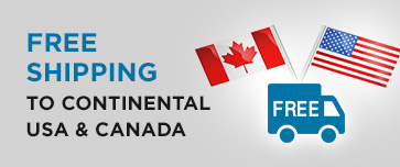 Free shipping to continental USA and Canada