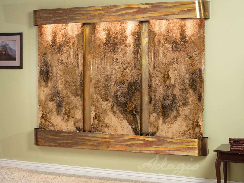 Deep Creek Falls - Magnifico Travertine - Rustic Copper - Rounded