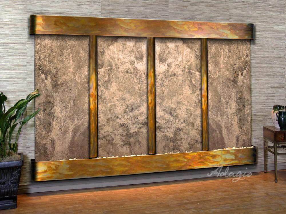 Regal Falls - Magnifico Travertine - Rustic Copper - Rounded - White