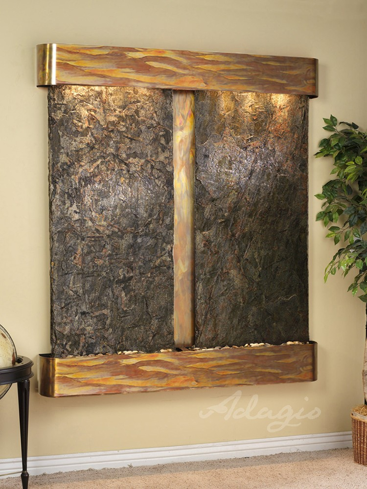 Cottonwood Falls - Bronze Mirror - Stainless Steel - Squared - White