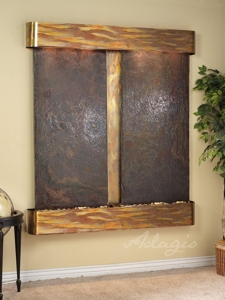 Cottonwood Falls - Multi-Color Slate - Rustic Copper - Rounded