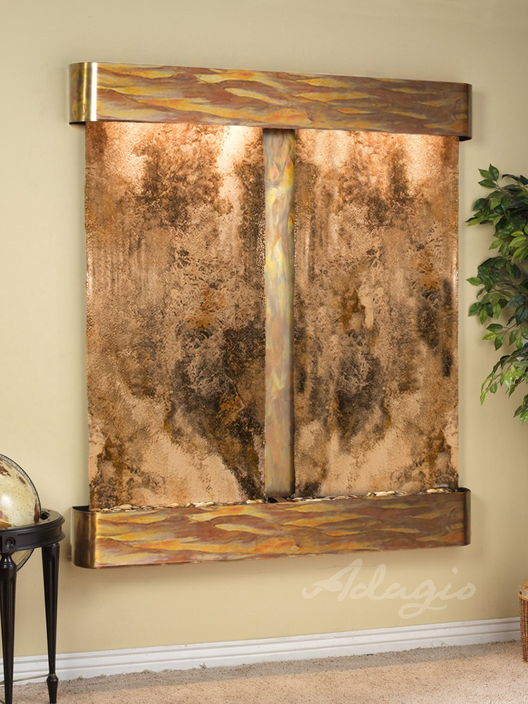 Cottonwood Falls - Magnifico Travertine - Rustic Copper - Rounded - White