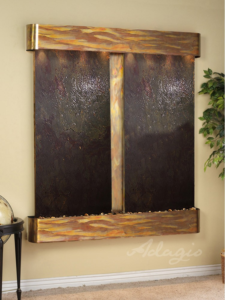 Cottonwood Falls - Multi-Color FeatherStone - Rustic Copper - Rounded - White