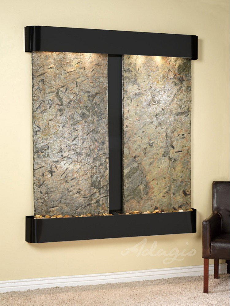 Cottonwood Falls - Green Slate - Blackened Copper - Rounded