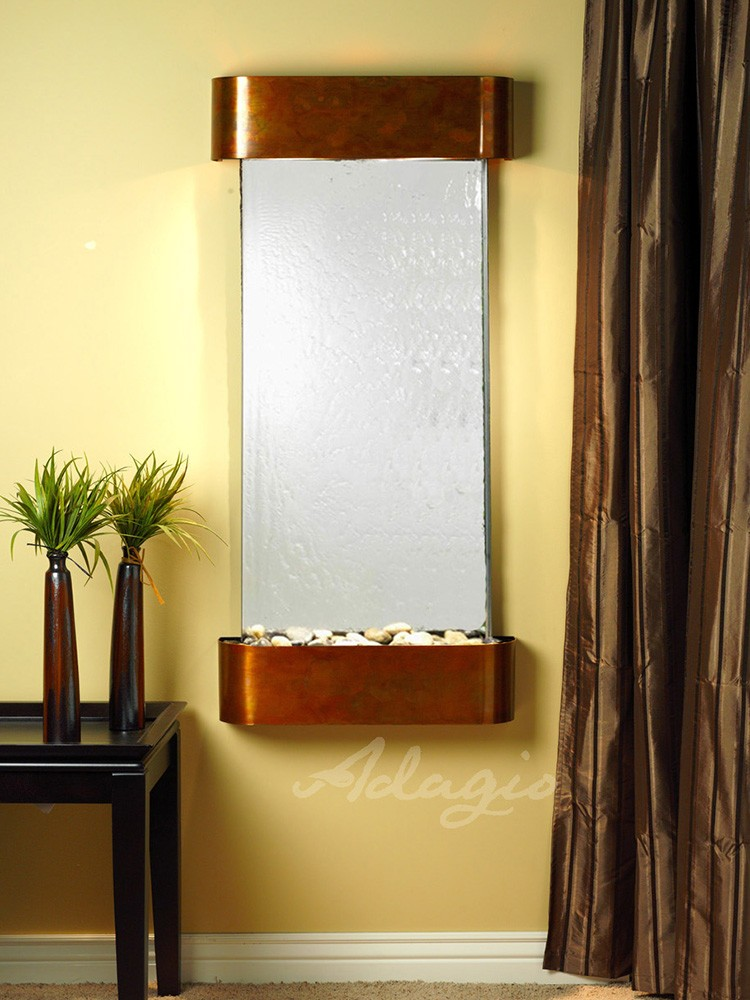 Cascade Springs - Silver Mirror - Rustic Copper - Rounded - White