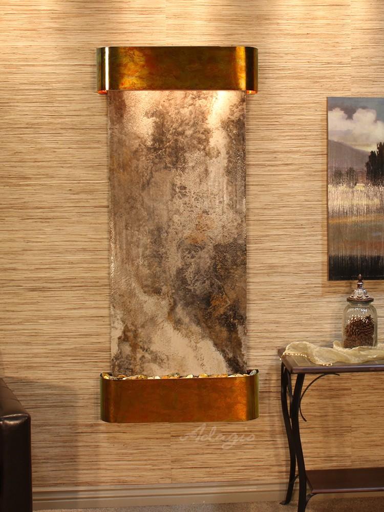 Inspiration Falls - Magnifico Travertine - Rustic Copper - Rounded - White