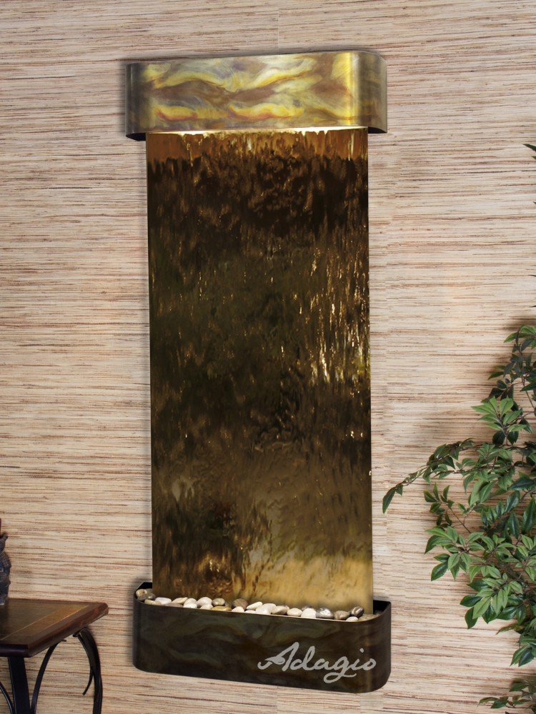 Inspiration Falls - Bronze Mirror - Rustic Copper - Rounded