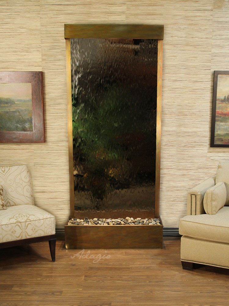 Tranquil River (Flush Mounted Towards Rear Of The Base) - Silver Mirror - Stainless Steel - White